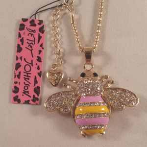 Jewelry - Betsey Johnson Bumble Bee Crystal Necklace + Gift!